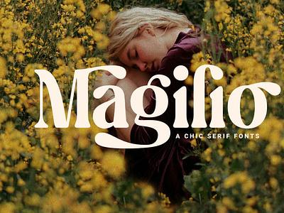 Magilio - A Chic Serif Fonts typeface elegantfont font typography