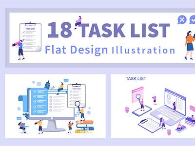 18 Task List Vector Illustration tasks vector illustrations digitalart