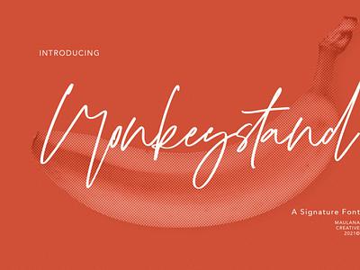 Monkeystand Signature Font scriptfont handwrittenfont font typography
