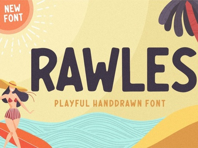 RAWLES Playful Handdrawn Font typeface handdrawnfont font typography