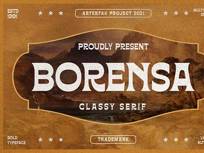 Borensa - Vintage Serif vintagefont font seriffont typography
