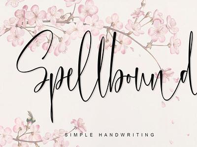 Spellbound scriptfont handwrittenfont font typography