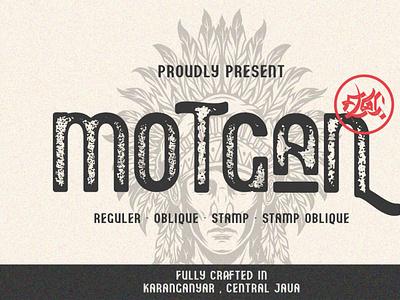 Motgan - Vintage Font Family typeface texturedfont erodedfont font typography