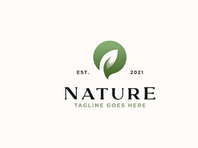 Leaf Green Gradient Nature Logo logotype logodesign logo branding