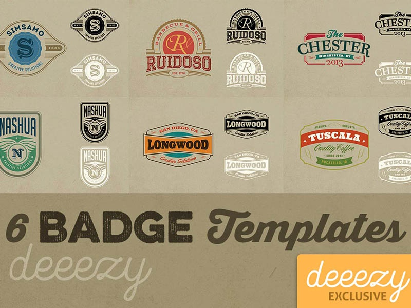 6 FREE Badge Or Logo Templates By Deeezy Dribbble Dribbble