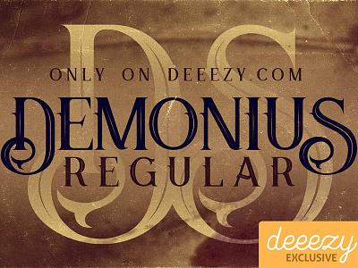 Demonius Regular - Free Font retro typography retro font vintage font free font cool typography inspiration typography logo font freebies free deeezy
