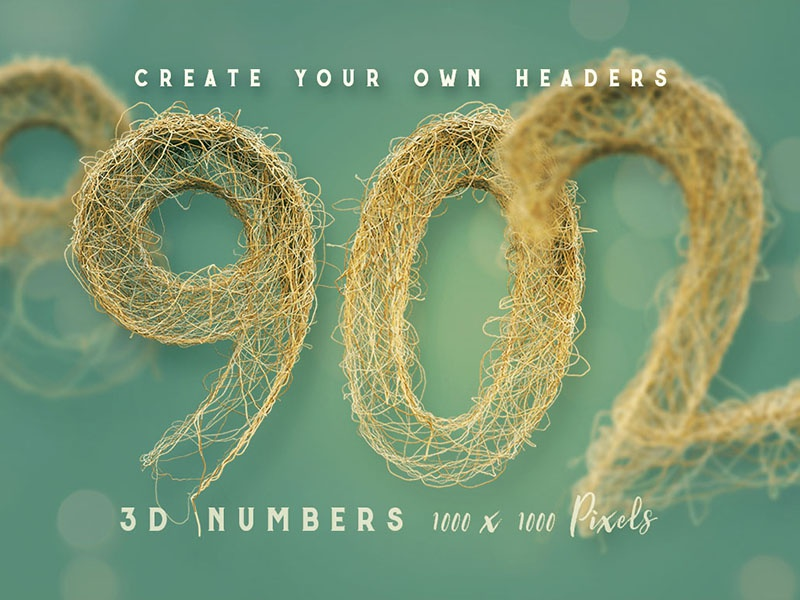 Download Free 3D Numbers – Wired Chaos