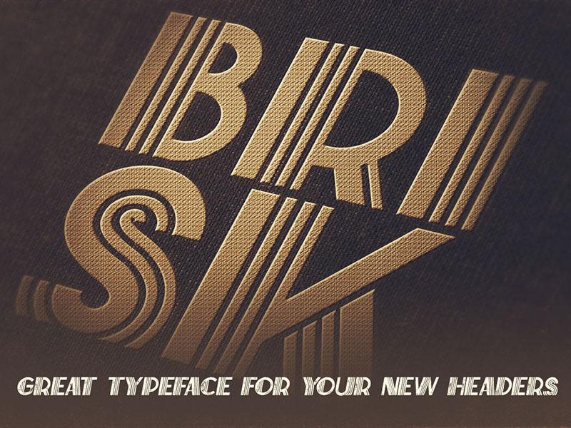 Free Font – Brisk Inline Grunge