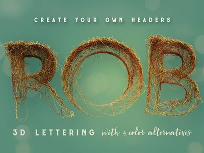 FREE 3D Lettering - Wired Chaos