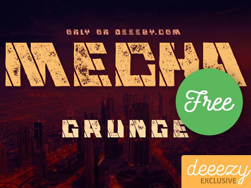 Free Font - Mecha Grunge