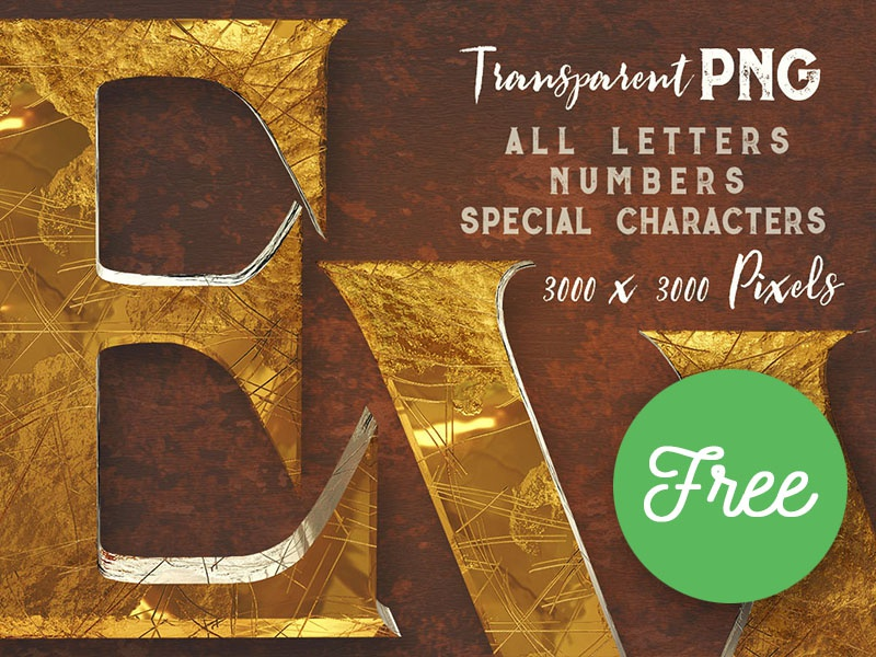 FREE Vintage Style 3D Lettering