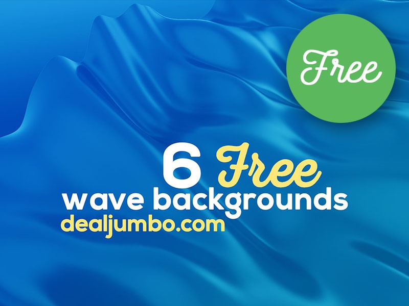 6 Free Wave 3D Backgrounds
