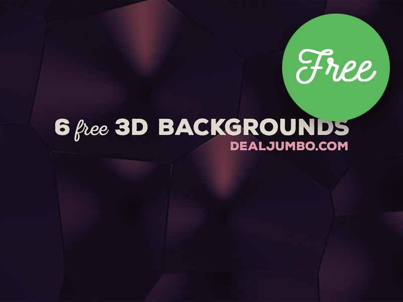 6 Free Creative 3D Backgrounds