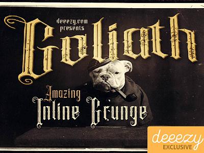 FREE Font - Goliath Inline Grunge retro typography vintage typography victorian font gothic font inline font vintage font grunge font free font freebie free