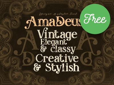 Amadeust Inline FREE Font typeface font retro typography vintage typography victorian font gothic font inline font vintage font grunge font free font freebie free