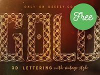 FREE Golden Age 3D Lettering