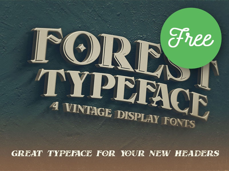 Forest Regular FREE Font by Deeezy on Dribbble