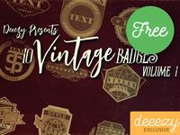 10 Free Vintage Badges 1