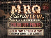 Marquee Front View - Color Fonts