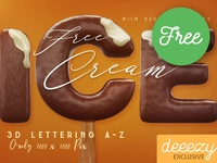 Ice Cream Free 3D Lettering