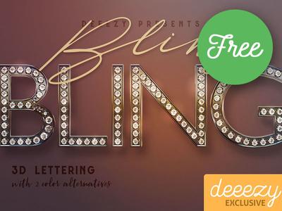 Bling Bling - Free 3D Lettering
