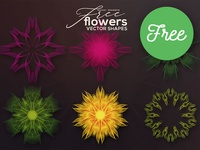 6 Free Vector Flowers