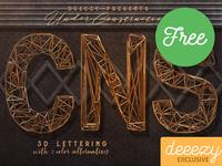Under Construction Free 3D Lettering