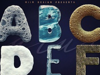 3D Lettering Mega Bundle 7 Nature