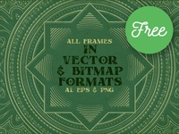 4 Free Square Ornamental Frames