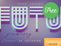 Futuristic Geometry - FREE 3D Lettering