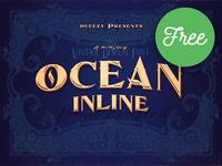 Ocean Inline – Free Font