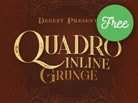 Quadro Inline Grunge – Free Font