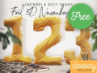 Free Foil 3D Numbers