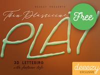 Thin Plasticine - FREE 3D Lettering