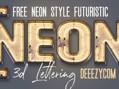 Free Neon 3D Letters