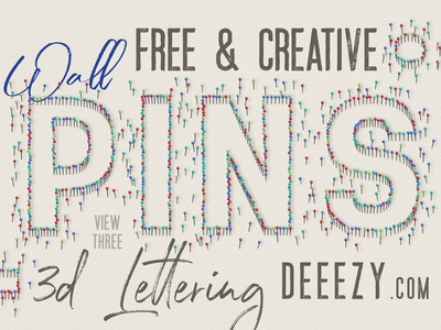 Free Wall Pins 3d Lettering free downloads funny typography funny font 3d letters office wall pins graphics freebies free typography font deeezy typography free font free graphics freebie free