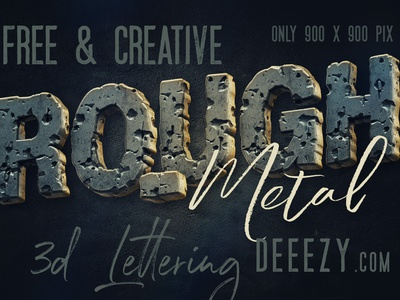 Free Rough Metal 3d Lettering 3d letters 3d typography rough font metalic font graphics freebies free typography font deeezy typography free font free graphics freebie free