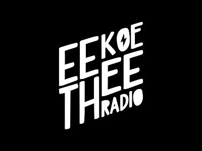 Eekoethee Radio  hand electronic community underground radio logo