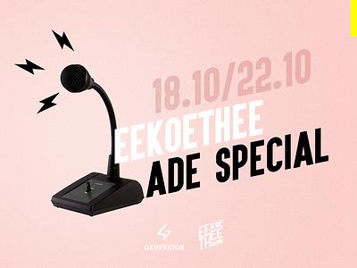 Eekoethee Radio / Amsterdam Dance Event artwork radio design event dance ade