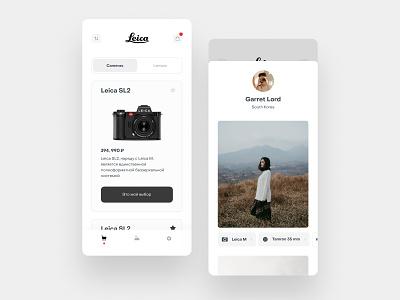 Lieca store concept store leica app design ux design app uidesign ios ui mobile