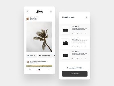 Leica store concept part 2 store leica app design ux design app uidesign ios ui mobile