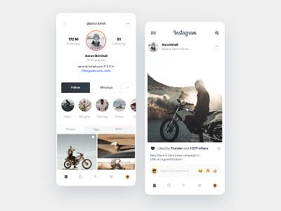 Instagram redesign concept animation app design ux design app uidesign ios ui mobile instagram