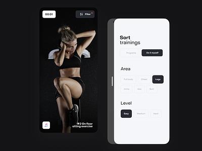 Workout app workout concept animation app design ux design app uidesign ios ui mobile