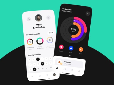 Fitness app motion concept app design ux design app uidesign ios ui mobile