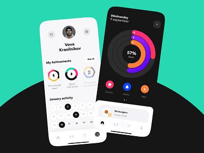 Fitness app motion concept app design ux design app uidesign ios ui mobile