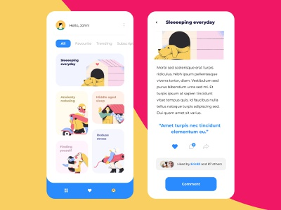 Meditation community app meditation app design concept ux mobile design app uidesign ios ui