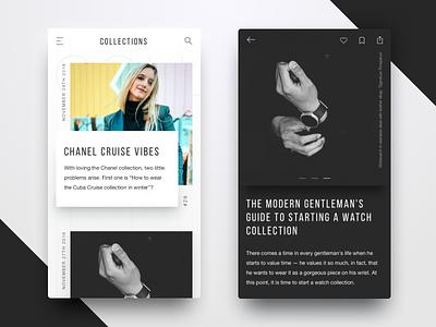 Blog design for Fashion magazine b2b digital ecommerce app mobile ios blog fashion