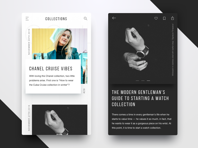 Blog Design For Fashion Magazine By Dmitry Kravchuk For Rondesignlab On Dribbble