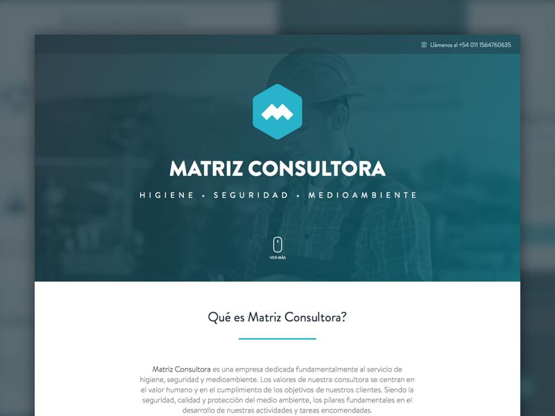 Matriz Consultora — Website page landing hygiene clean minimal website