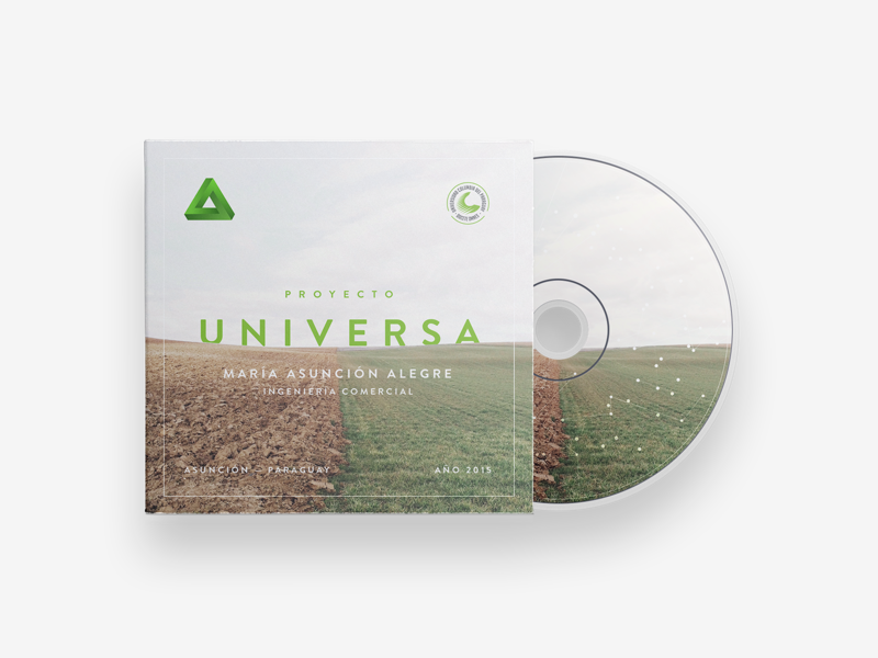 Proyecto Universa — CD Cover thesis cover cd